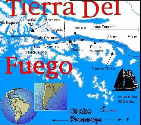 Cape Horn On South America Map.Cape Horn South America Clipart This Map Shows Some Details Of The