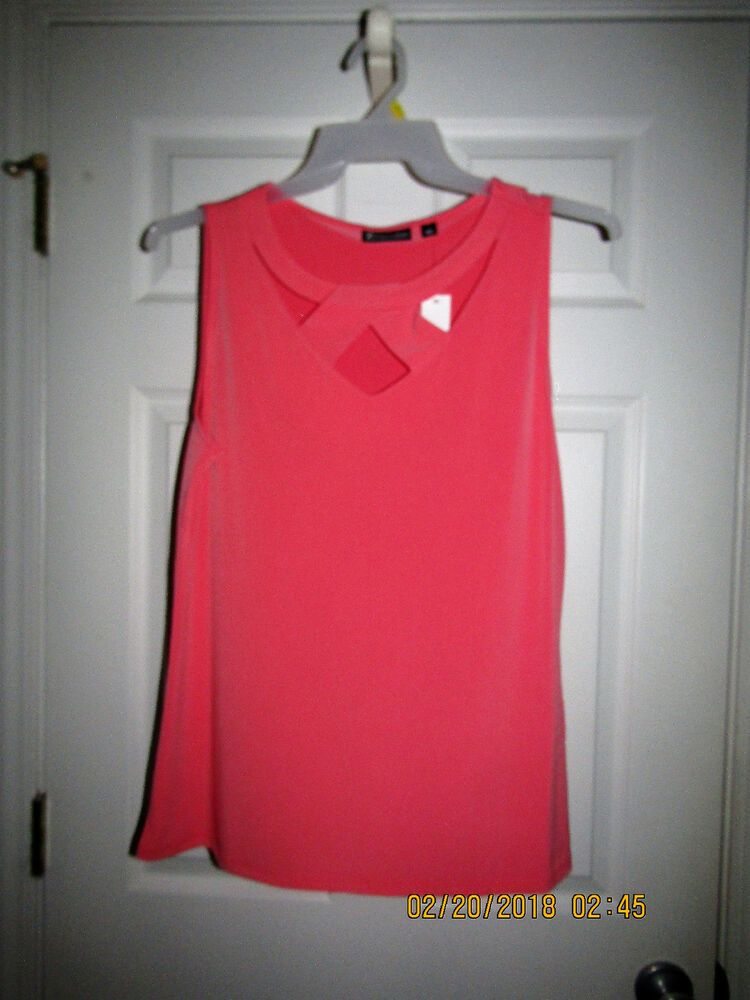 f60c2c19d3a NEW YORK & COMPANY 7th AVENUE Pink Criss Cross Top Tee Shirt Blouse Large L  NWT #fashion #clothing #shoes #accessories #womensclothing #tops (ebay link)