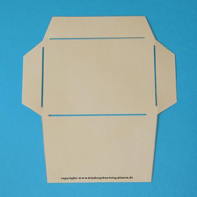 Vorlage selbstgemachter C6-Umschlag (Postkarte passt rein)