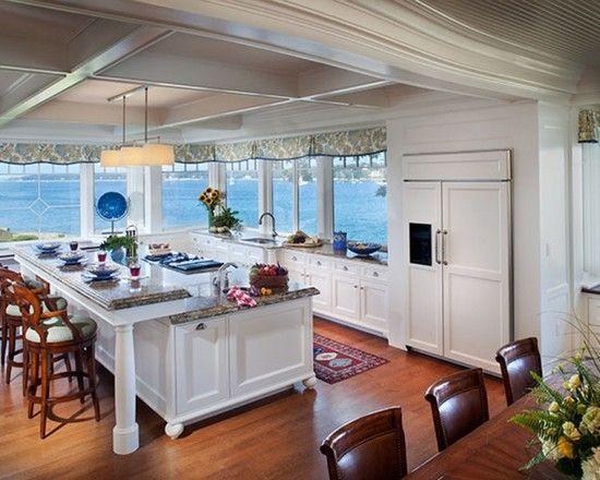 sleek beach style kitchen design fancy bar stools | vista