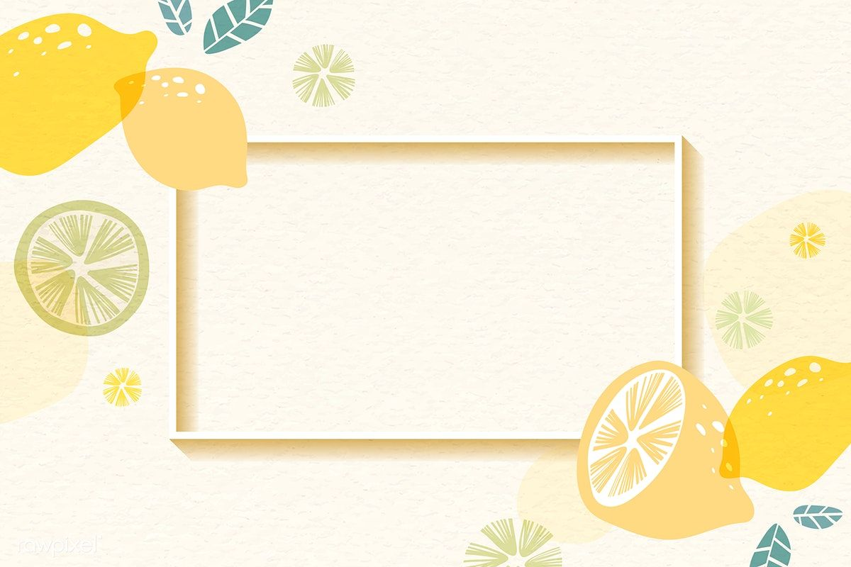 Download Premium Vector Of Frame On A Lemon Patterned Background With Background Patterns Lemon Background Lemon Patterns