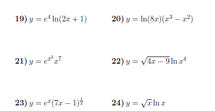 Differentiation rules worksheet (with solutions): A worksheet on the following differentiations rules: