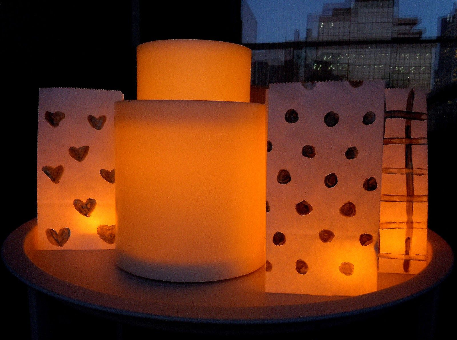 DIY Paper Bag Luminaries with Candle Impressions Flameless Candles ... for Paper Bag Lanterns Diy  34eri
