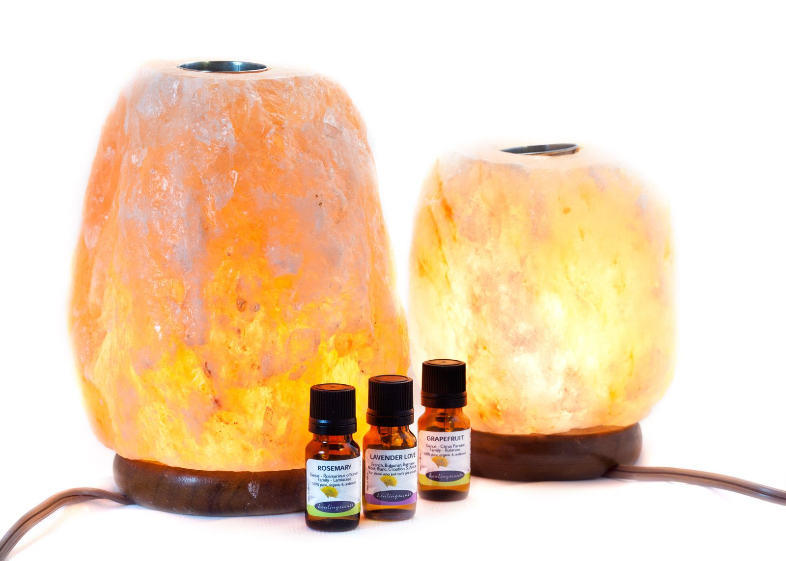What Does A Himalayan Salt Lamp Do Beauteous Himalayan Salt Lamp Diffusers  Healingscents Aromatherapy Review