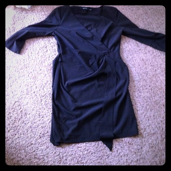 Ark & co black faux wrap dress Super cute ark & co. Faux wrap dress. I wore this once to the opera house and have kept it in a dress bag since. Great fit and style for lots less than retail! And little black dresses are always essential Ark & Co Dresses