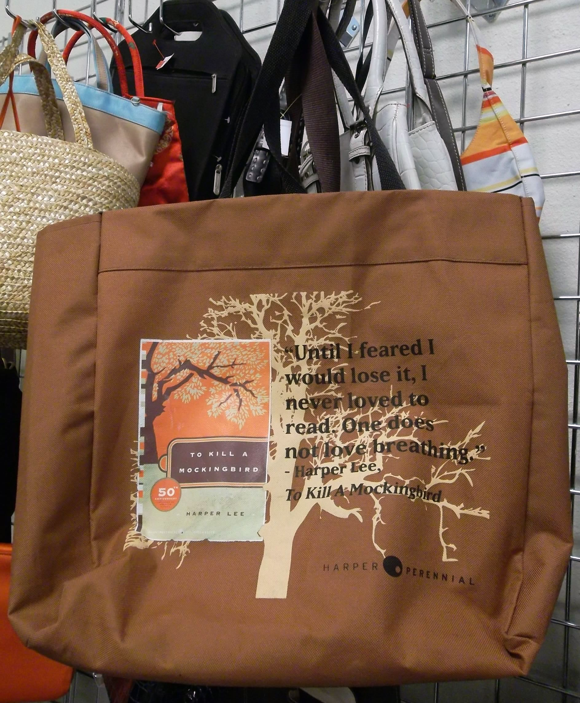 """A great, sturdy book bag, especially if you're a fan of """"To Kill A Mockingbird"""" #GoodwillNMfind"""