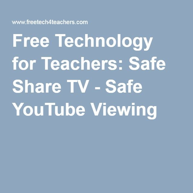 Free Technology for Teachers Safe Share TV - Safe YouTube Viewing - how to create a budget spreadsheet in google docs