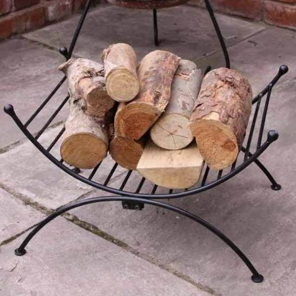 Fireplace Log Holder Storage Stand Chiminea Fire Accessories