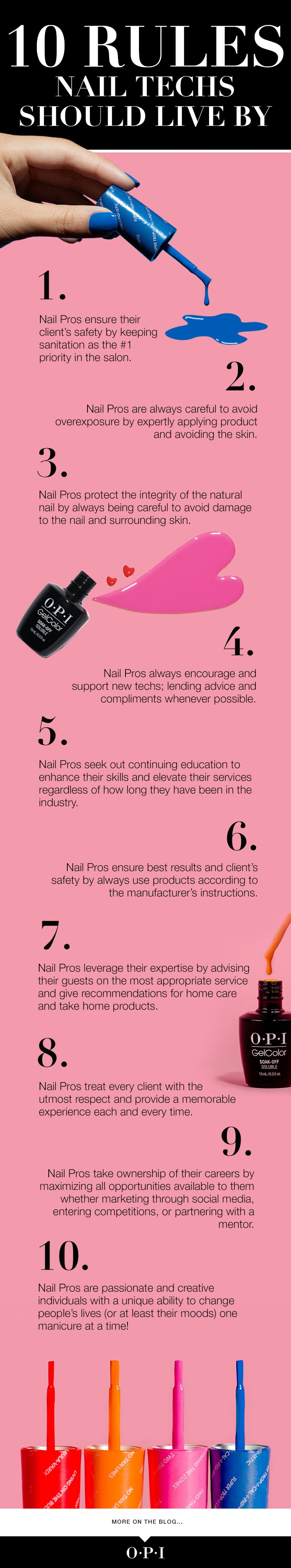 10 Rules for Nail Pros to Live By Beauty salon decor