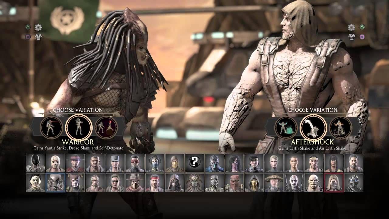 Mortal Kombat Xl Character Select Screen W Variations Kombat