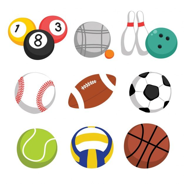 Sport Balls Collection Free Vector Kitty Party Games Soccer Backgrounds Sports Flyer
