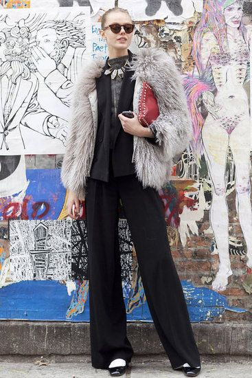 New York Fashion Week Street Style Fall 2012: Photo: Greg Kessler