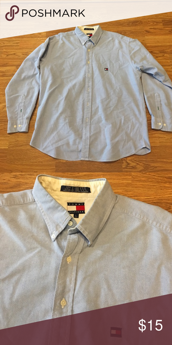 Tommy Hilfiger Oxford Like new Tommy Hilfiger Shirts Casual Button Down Shirts