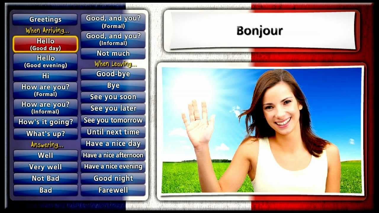 Learn French With Ouino Les Salutations Greetings School