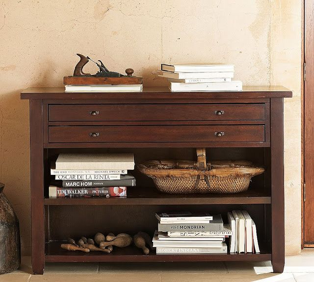 Pottery Barn Map Console Table $600
