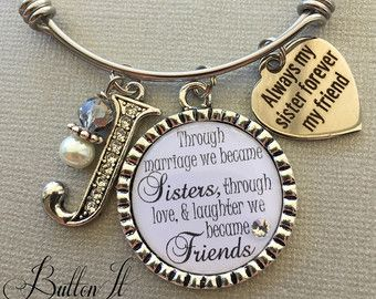 Sister in law gift etsy mod podgeresin pinterest etsy and sister in law gift big sister gift sister jewelry by buttonit negle Gallery