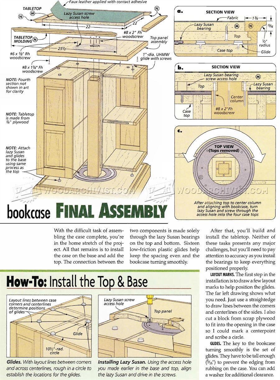 revolving bookcase plans furniture plans shelving bookcase rh pinterest co uk