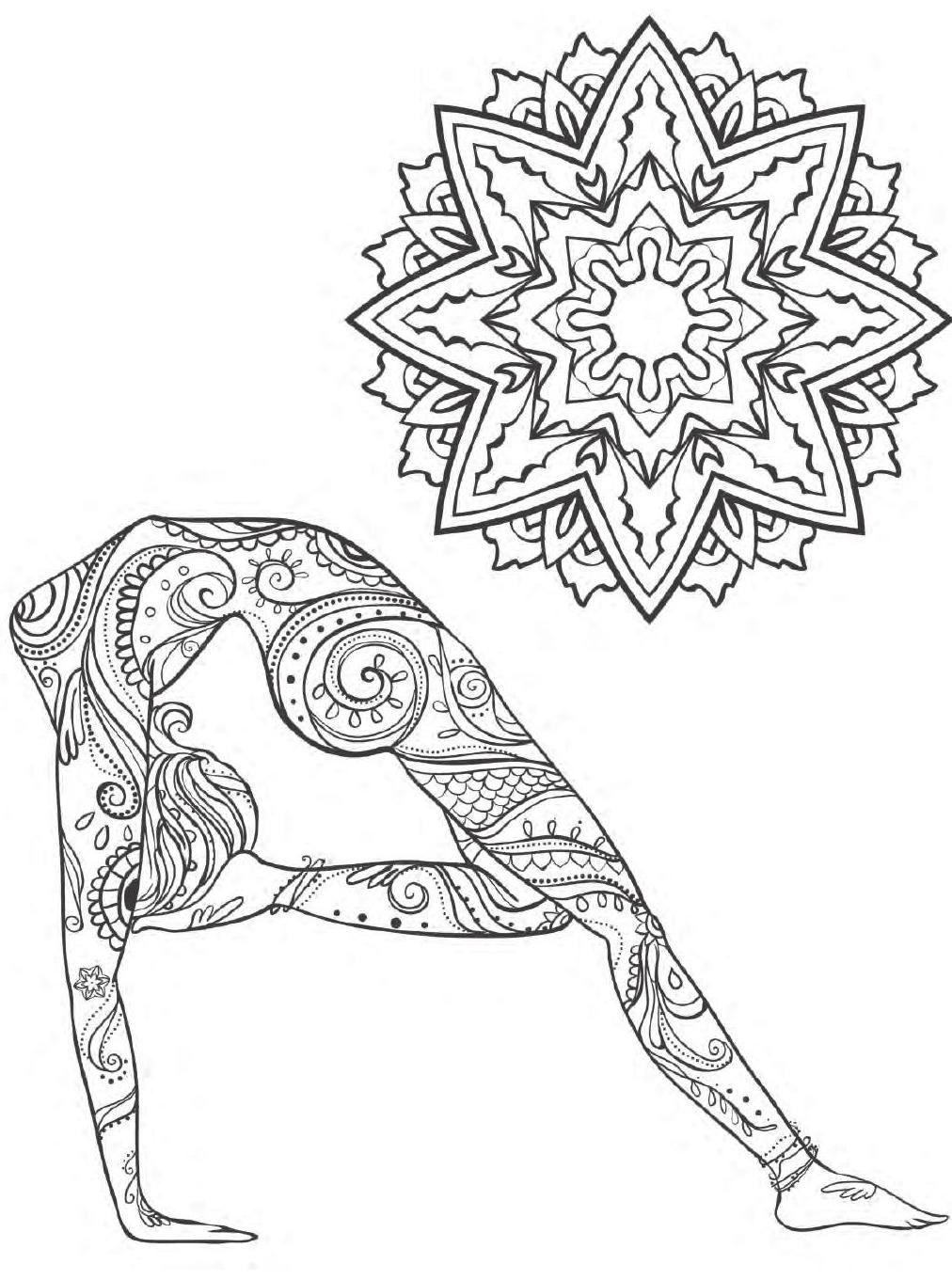 Yoga And Meditation Coloring Book For Adults With Yoga Poses And Mandalas Mandalas Para Colorir Colorir Poses De Ioga