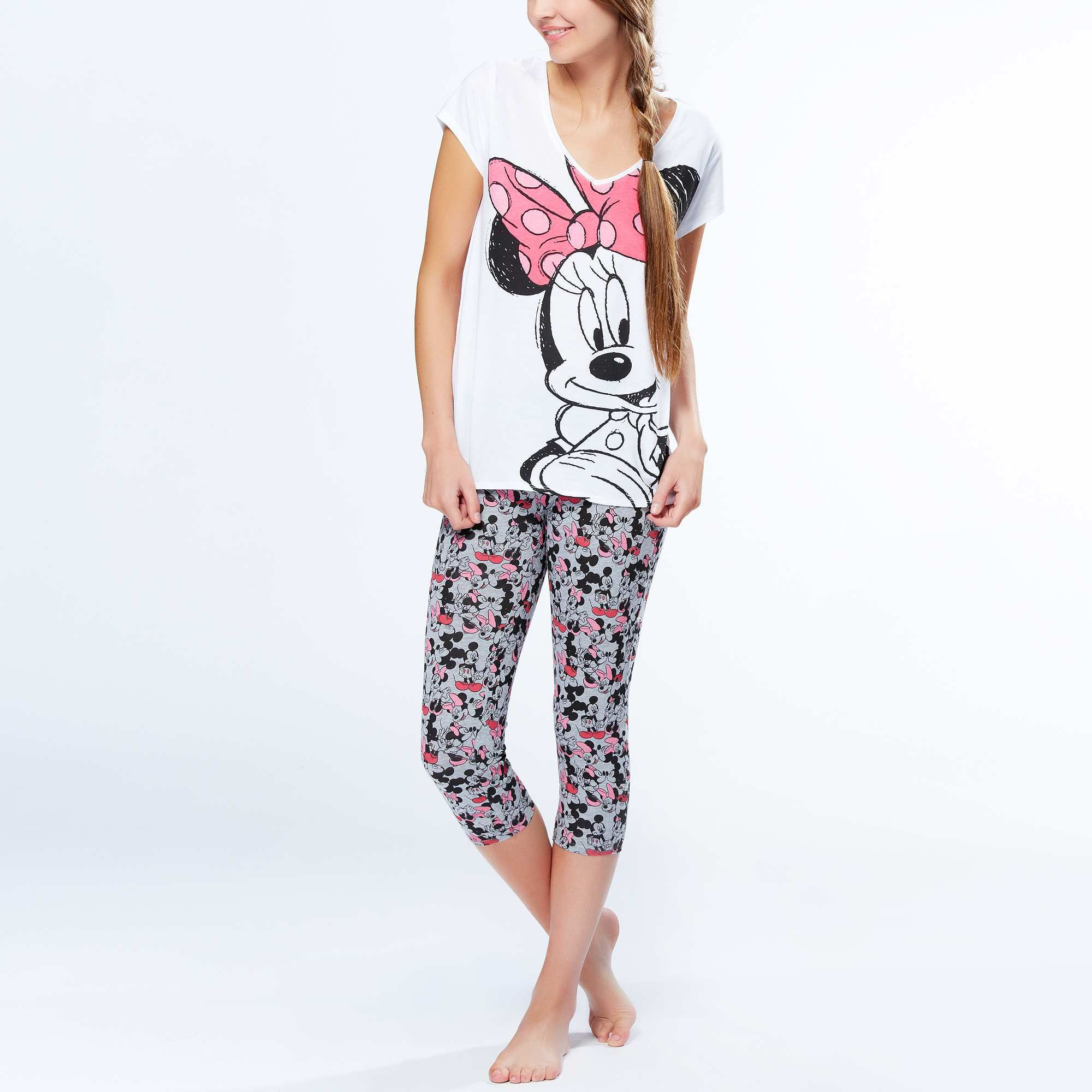 pyjama court 39 minnie 39 femme kiabi 14 00 v tements. Black Bedroom Furniture Sets. Home Design Ideas