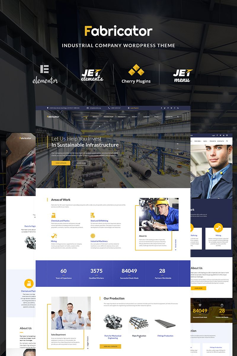 Fabricator Industrial Company Wordpress Theme Industrial Companies Wordpress Theme Wordpress Website Design