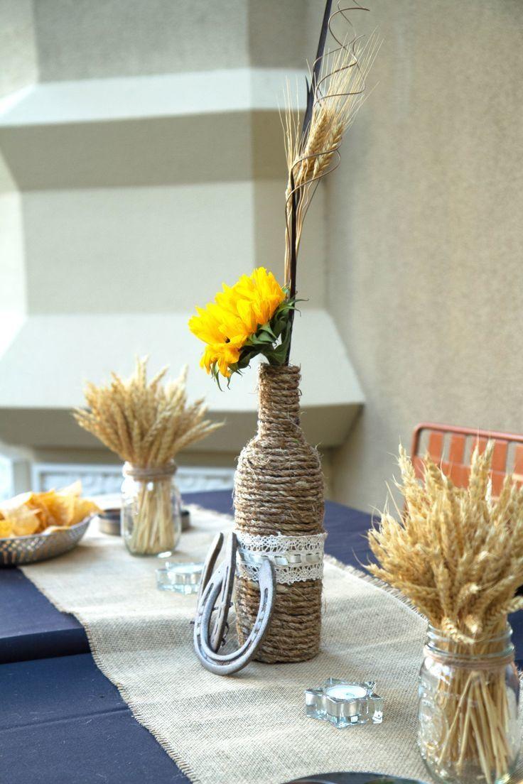 decoration centre de table bouteille cordage fer cheval mariage loup et louve pinterest. Black Bedroom Furniture Sets. Home Design Ideas