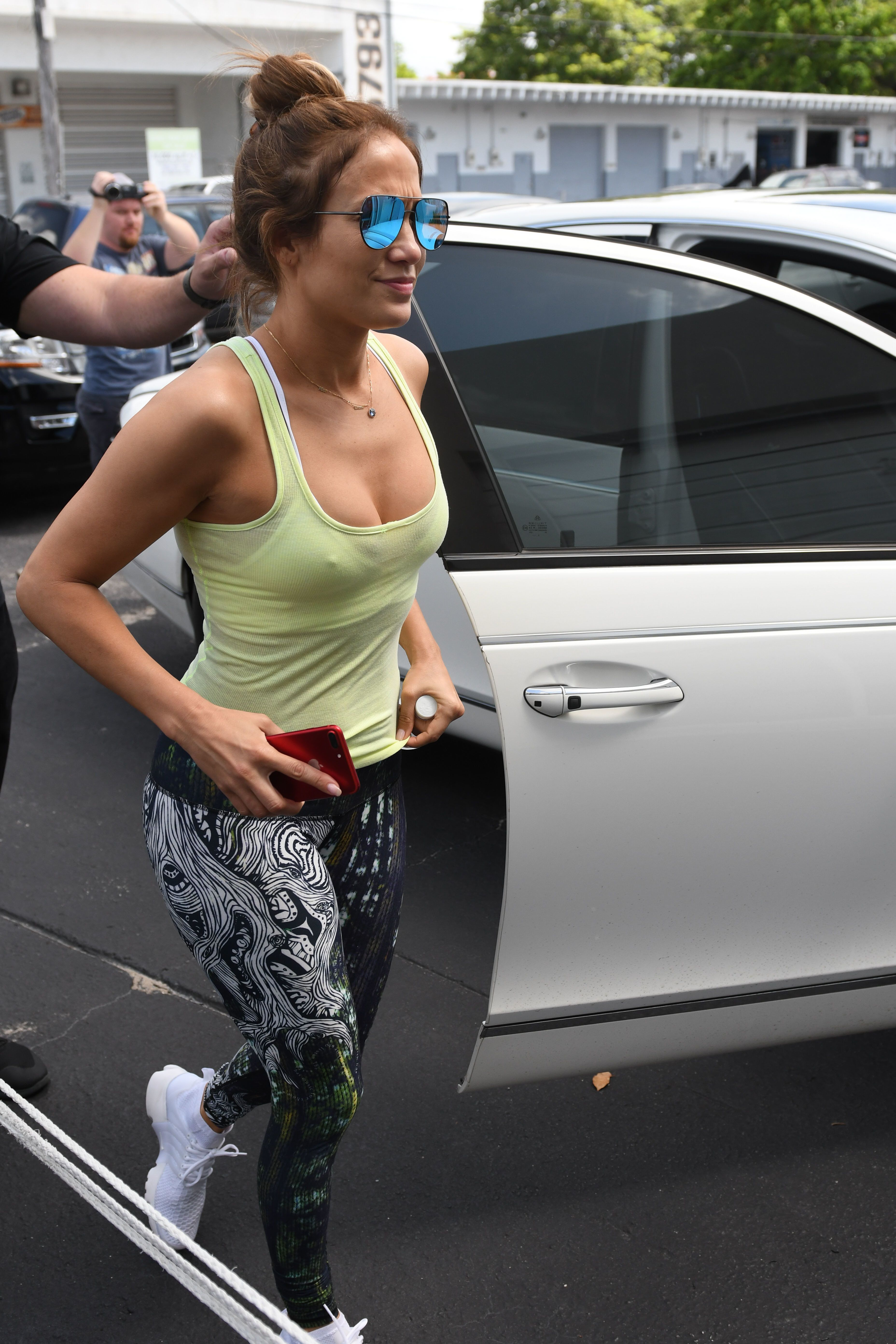 Jennifer Lopez - Goes to the gym in Miami 24 July 2017