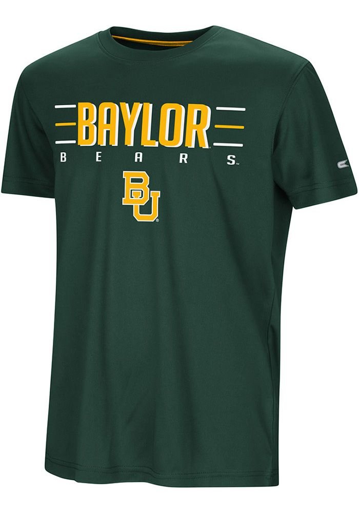 4f2dac0ae5a Colosseum Baylor Bears Youth Green Anytime Anywhere Short Sleeve T-Shirt,  Green, 100% POLYESTER, Size L