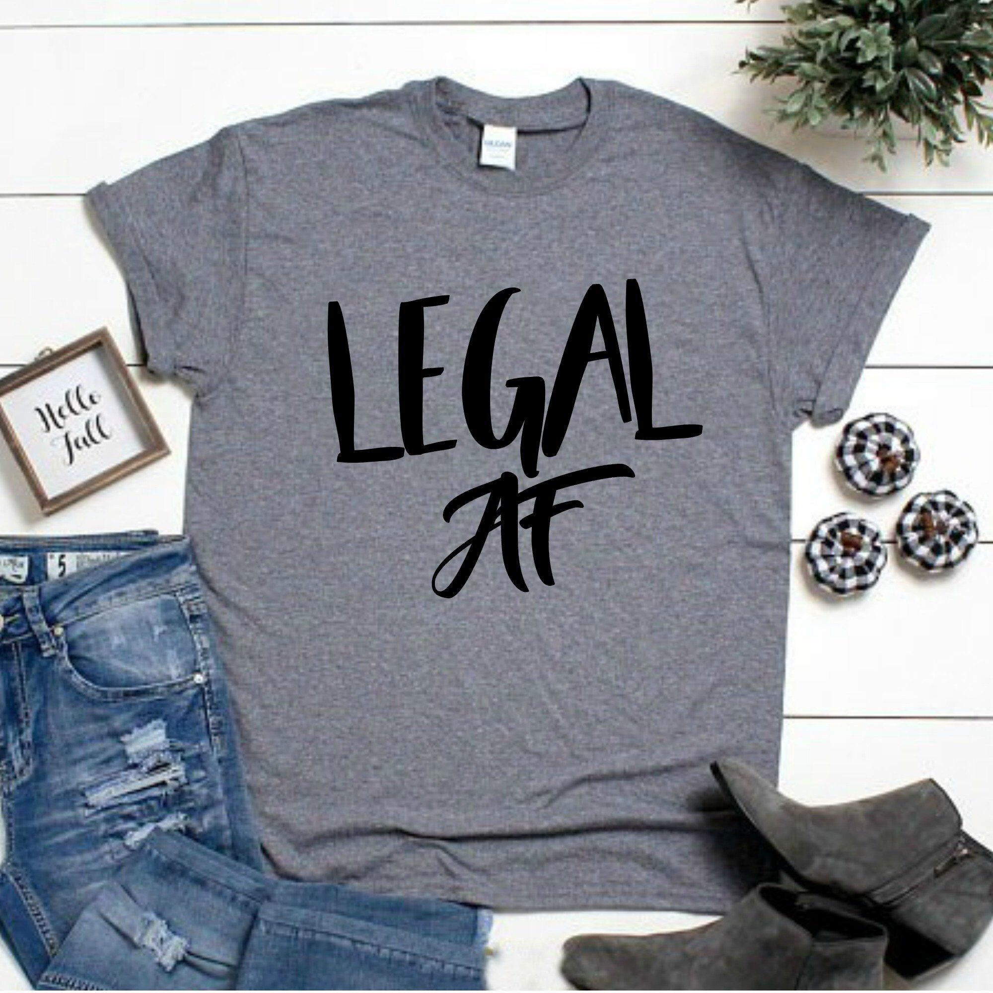 7c9016bc71416 Excited to share the latest addition to my  etsy shop  legal af shirt -  twenty one af shirt - 21st bday shirt - 21 shirt - 21st birthday gift -  funny ...