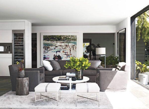 Chic Interior Design Courteney Coxu0027s House Living Room Furniture