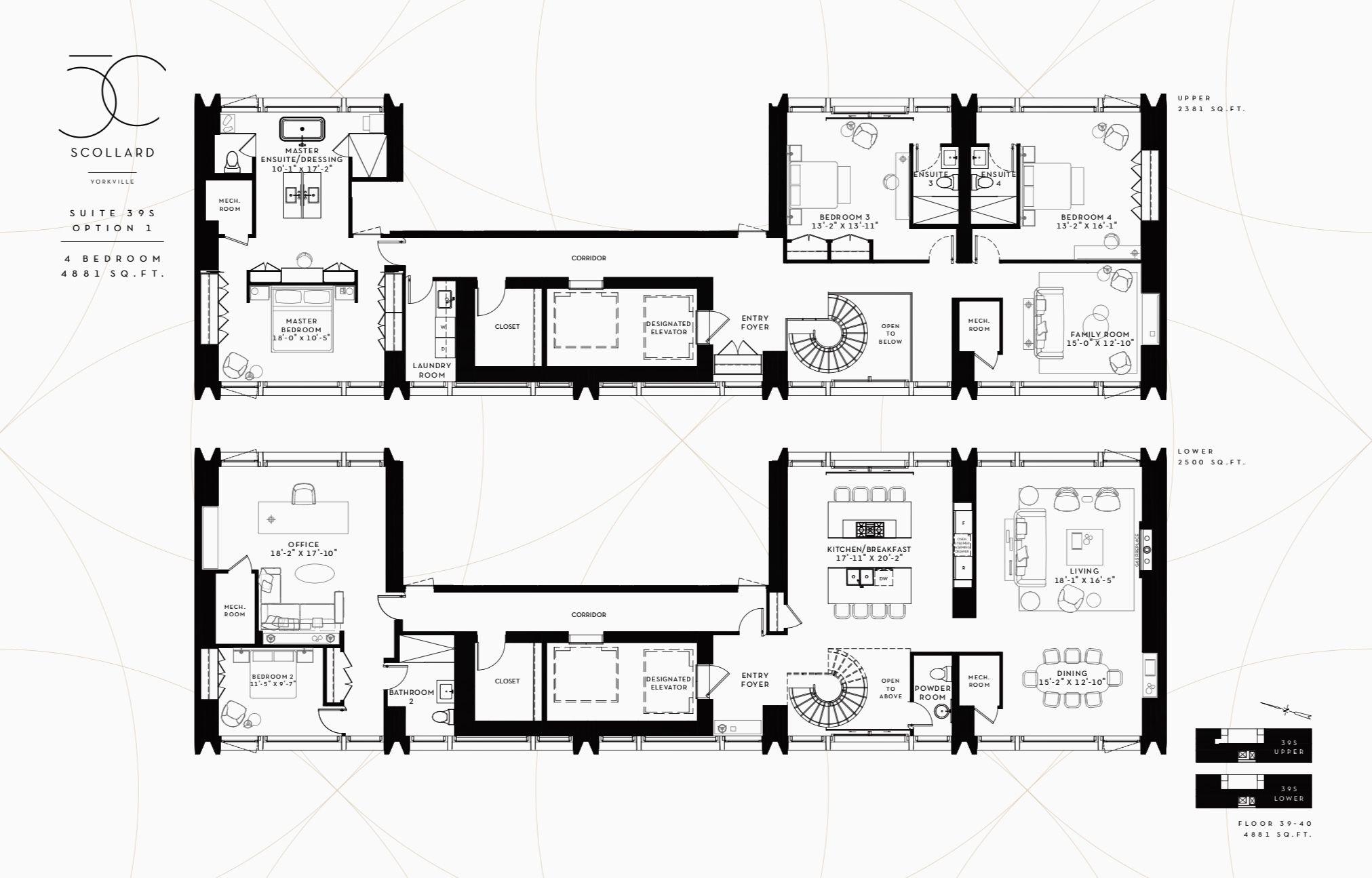 50 Scollard Yorkville Toronto Suite 39s Option 1 Floor Plans House Plans Plan Design