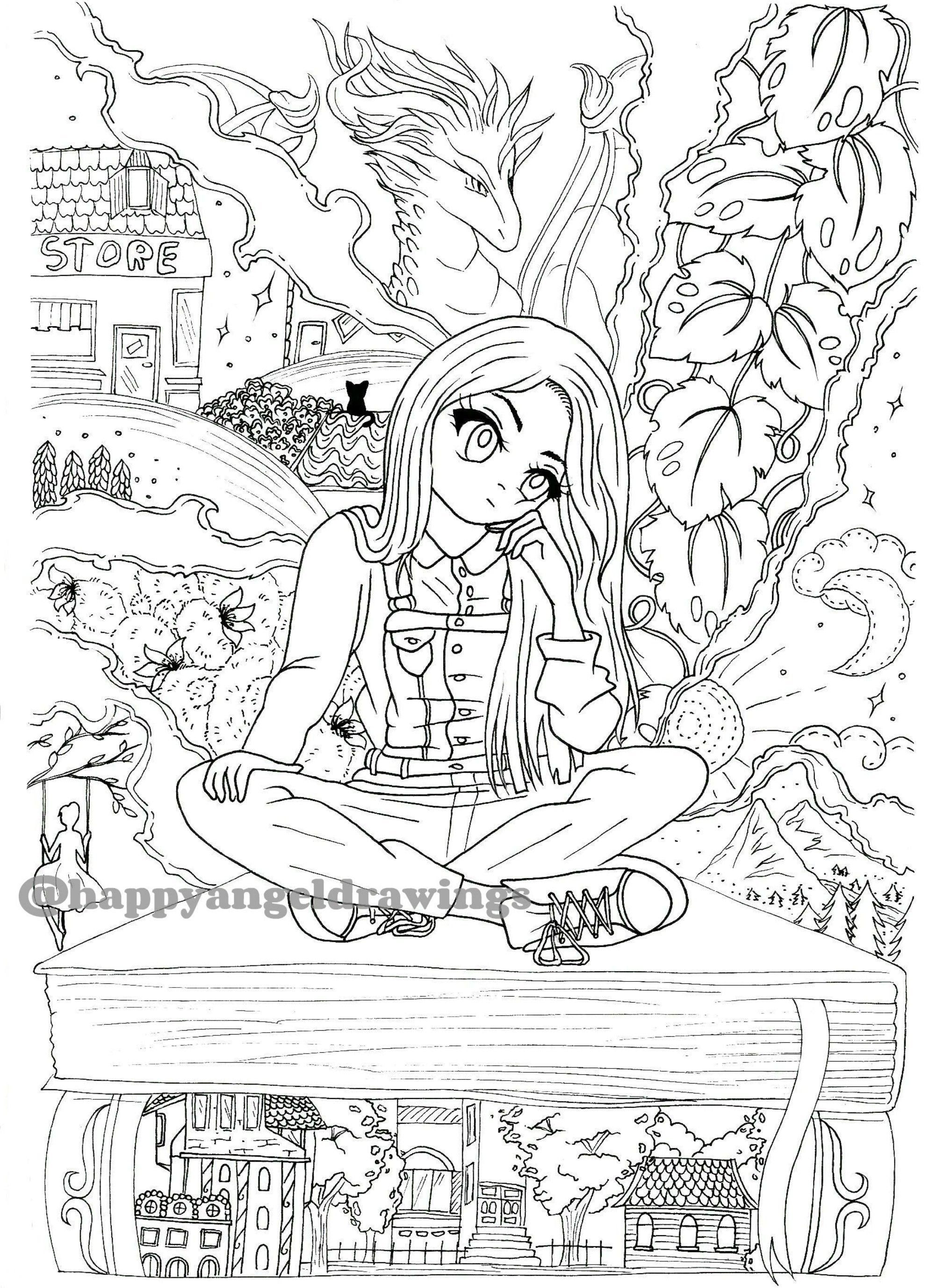 The Bookworm Coloring Page Etsy Coloring Pages Book Worms How To Draw Hands