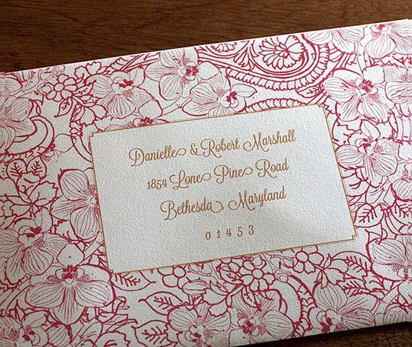 Pin By Invitations By Ajalon On Customize Envelope Addressing Letterpress Wedding Invitations Wedding Invitation Envelopes Address Wedding Invitation Card Design