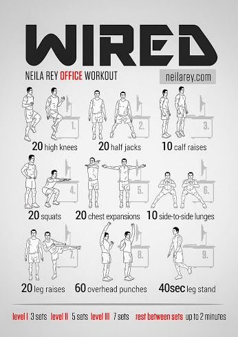 neila rey  google  office exercise workout for