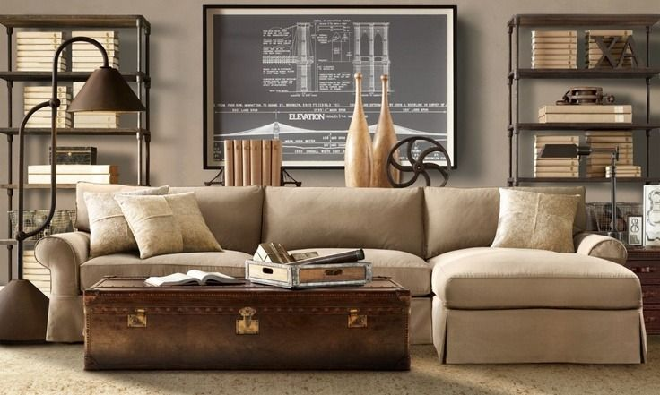 20 Awesome Masculine Living Room Ideas Steampunk Home Decor Masculine Living Rooms Steampunk Interior Design