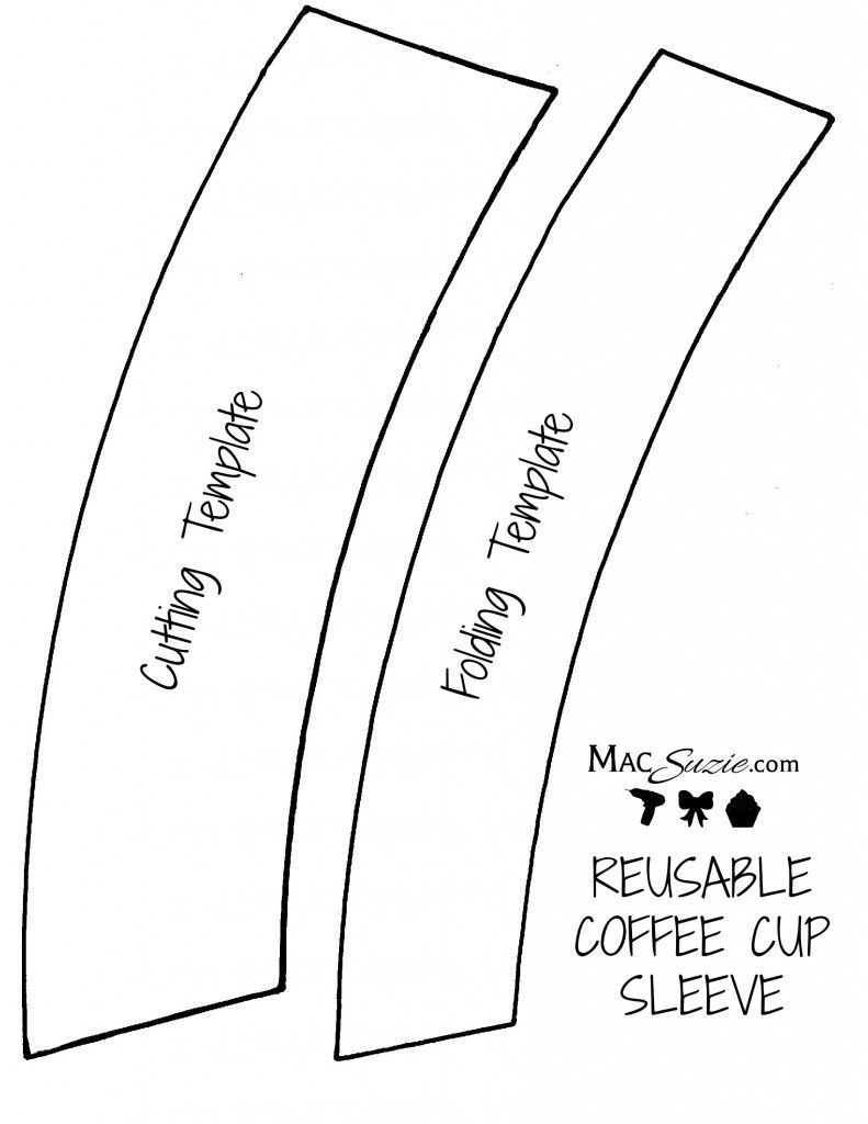 diy reusable coffee cup sleeve free printable template crafts