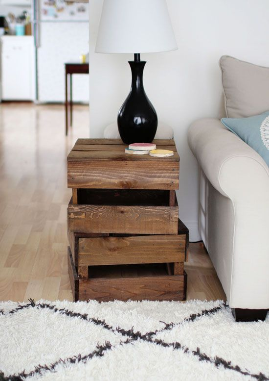 Awesome Crate Side Table