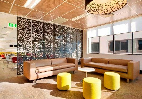 sonnig ideen wohnzimmer leder möbel geometrische formen raumteiler - raumteiler ideen wohnzimmer