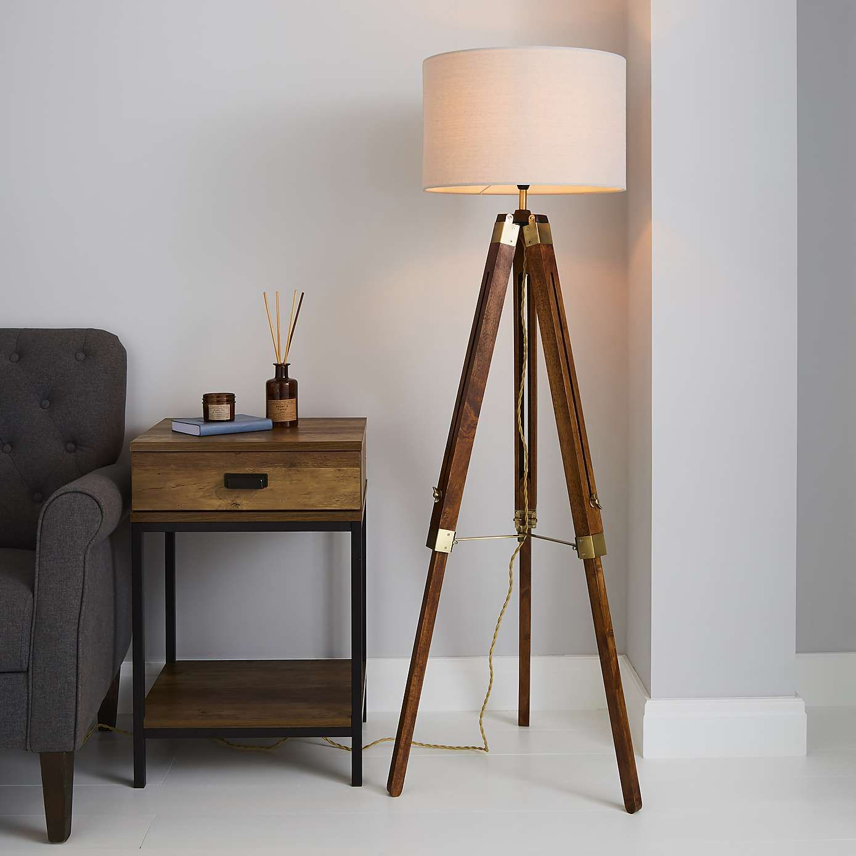 Trio Tripod Natural Floor Lamp in 2020 Natural floor