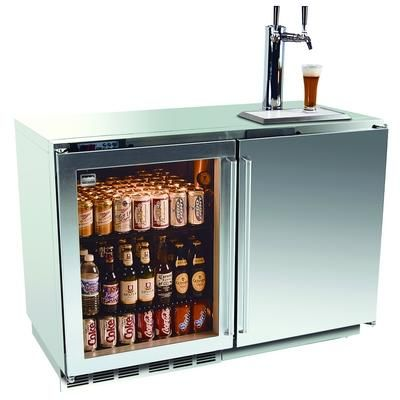 Kalamazoo 48 Outdoor Keg Tapper With Glass Door Refrigerator From