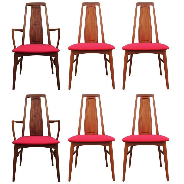Set Of Six Koefoeds Or Hornslet Danish Teak Dining Chairs From A