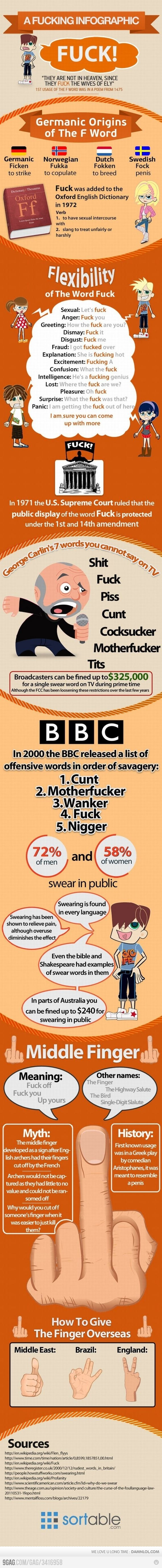 A Fu**ing infographic.