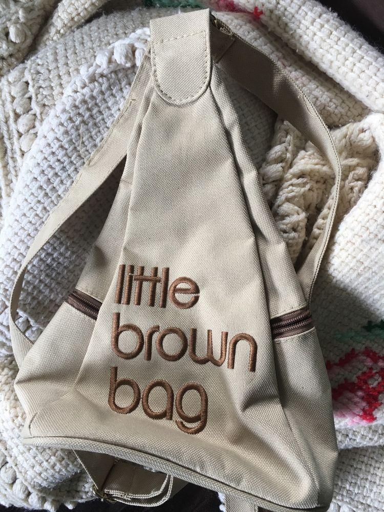 d7e2956c22 Vintage Bloomingdales Little Brown Bag Mini Backpack Purse Bag Straps Mall  | eBay