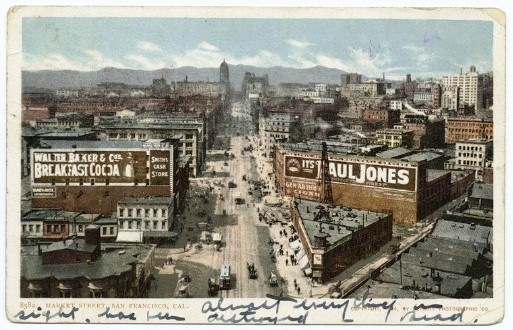 1904 Market Street San Francisco CA postcard