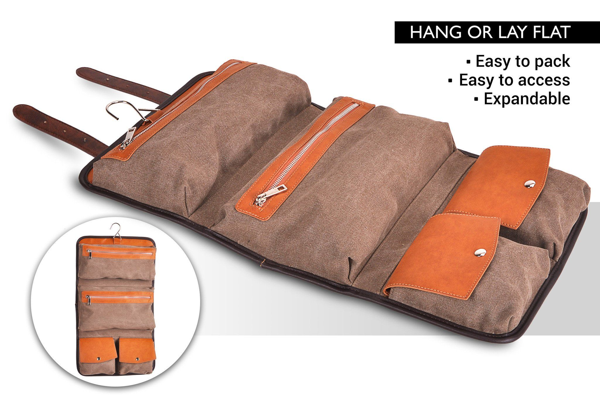 5e7fcad44f Hanging Toiletry Bag. Hanging Toiletry Bag Leather Accessories
