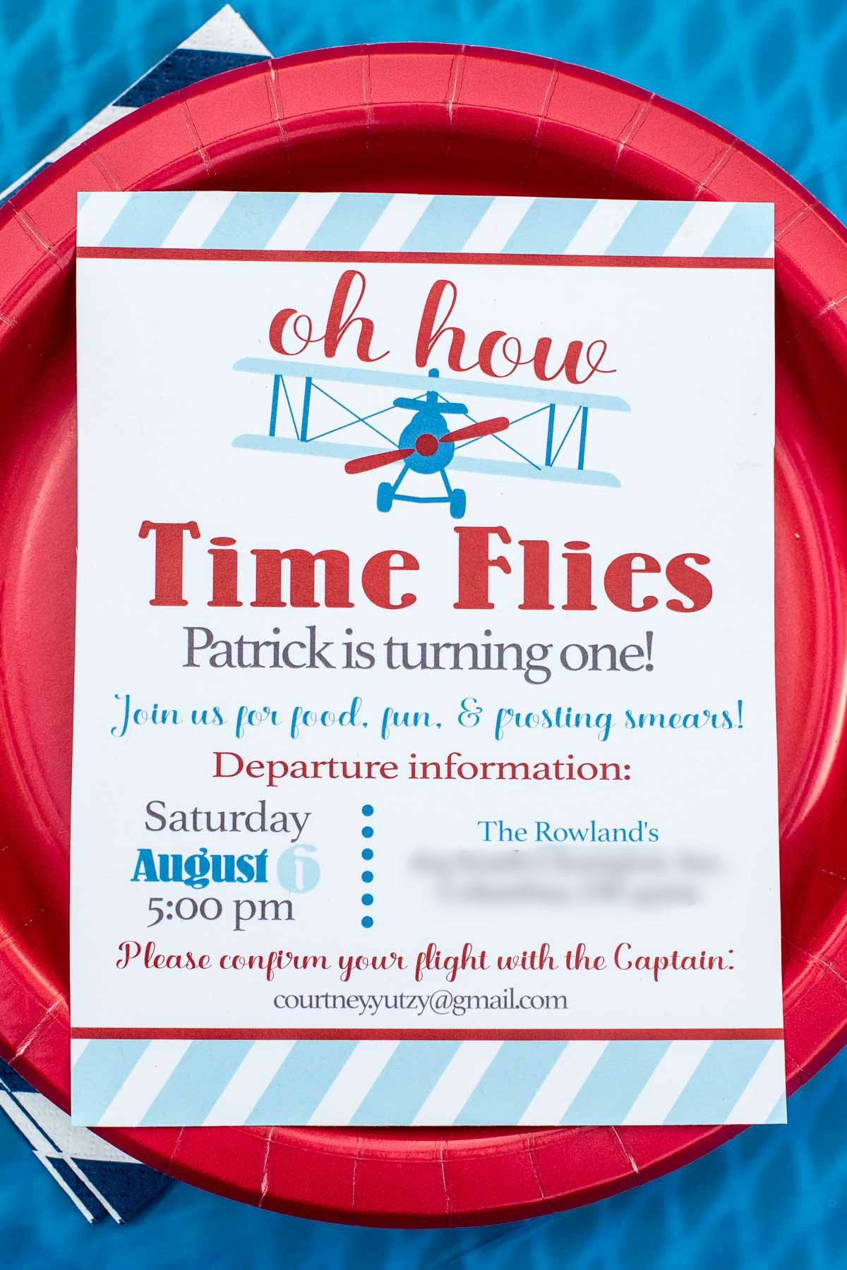 Airplane Themed Birthday Party Invitations | Invitationscriative.co