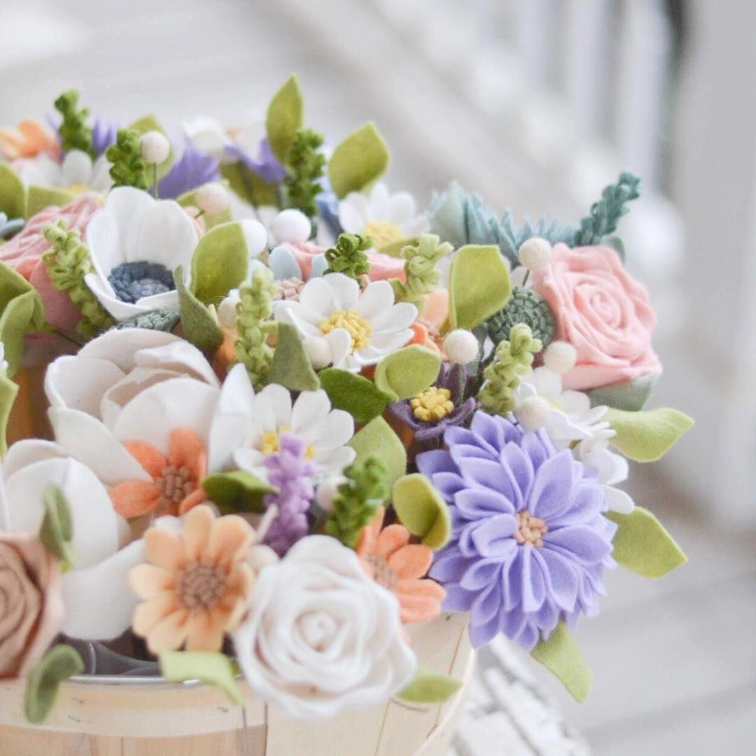 3942 514 167 instagram post by leaph felt flower boutique mar 24 2017 at 1234pm utc flower bouquet diydiy izmirmasajfo