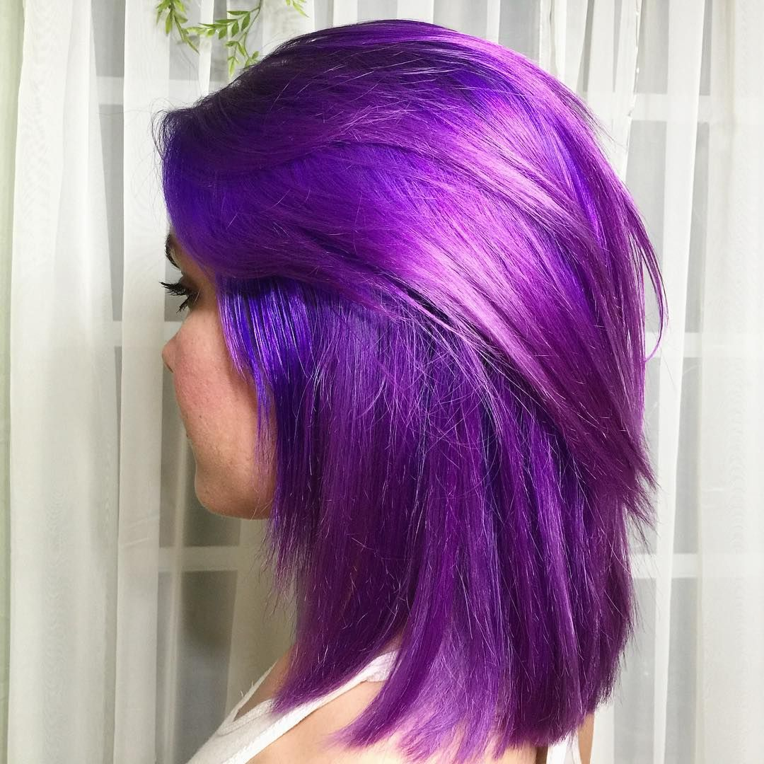 Pantone S Color Of The Year Ultra Violet Is The Perfect Hair Inspiration Orchid Hair Color Ion Hair Colors Magenta Hair