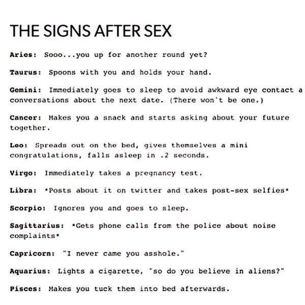 Each zodiac sign in sex and passion