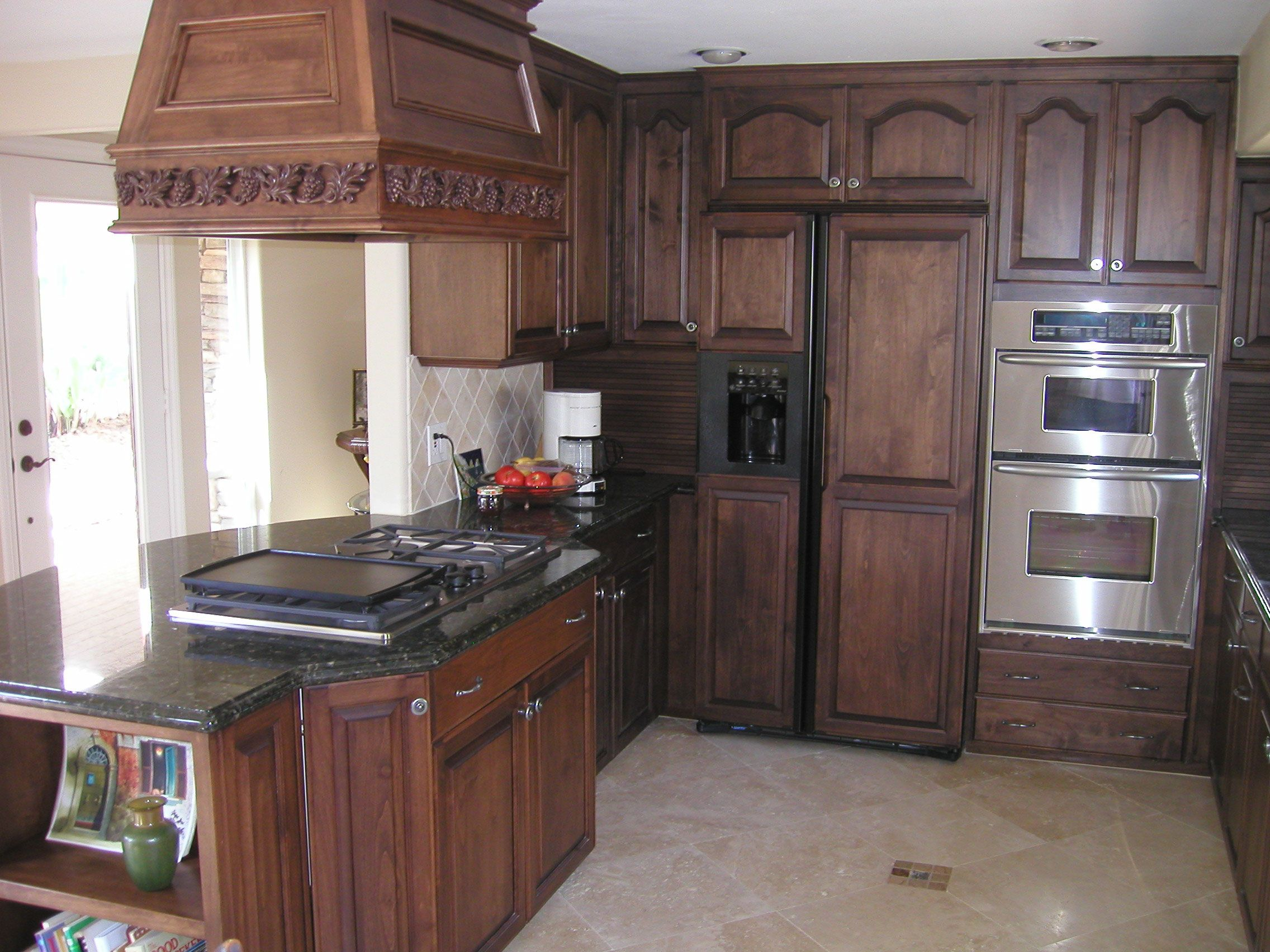 how to stain oak cabinets | ... kitchen cabinets. Stained dark oak and