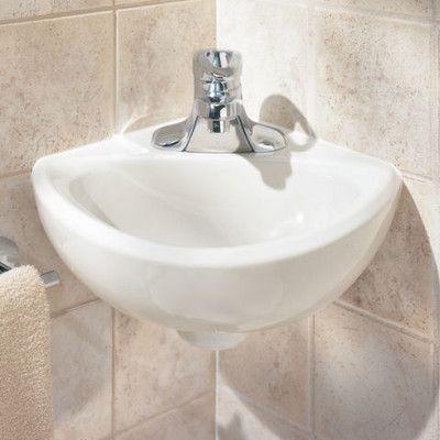American Standard Corner Minette Ceramic Specialty Corner Bathroom